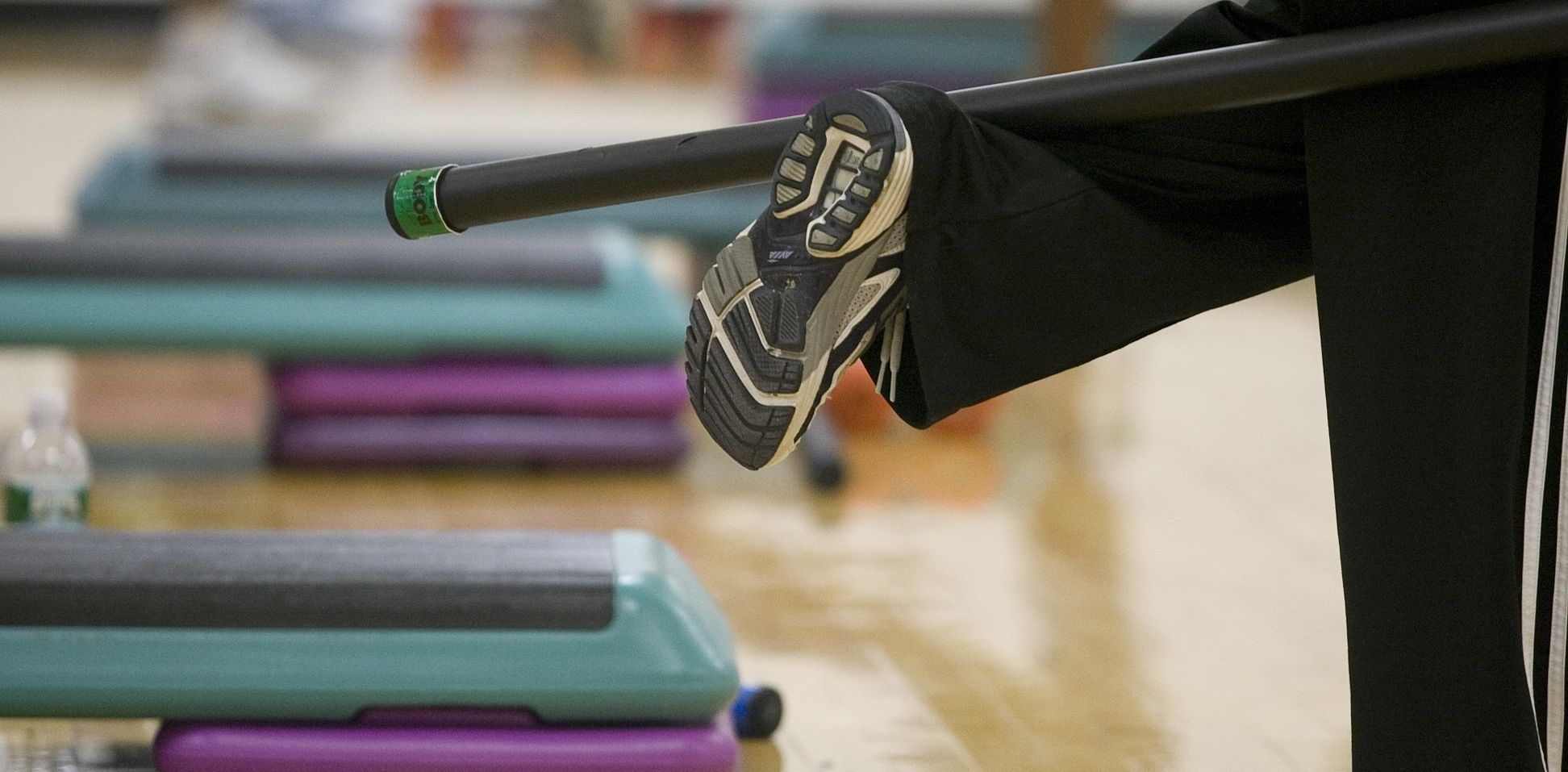 Group Fitness equipment during a session