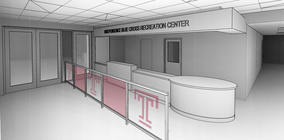 Artist rendering of renovation of IBC Student Rec Center