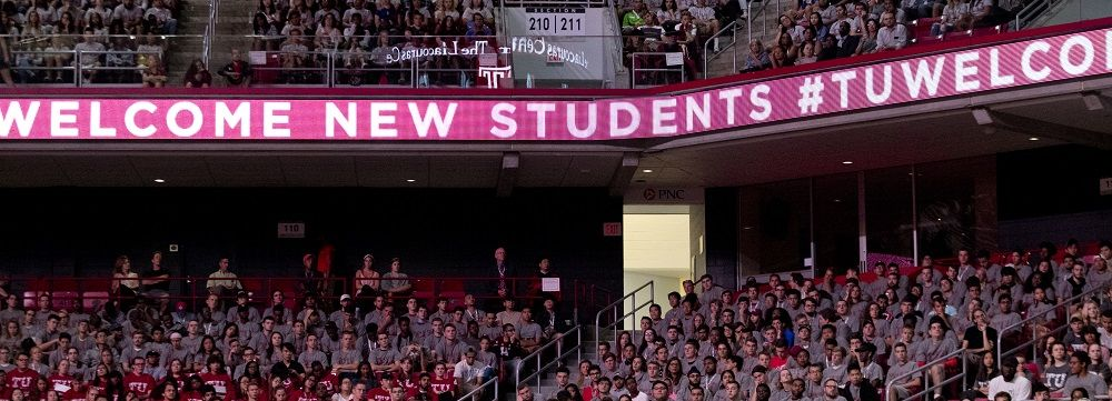 Welcome Temple Students