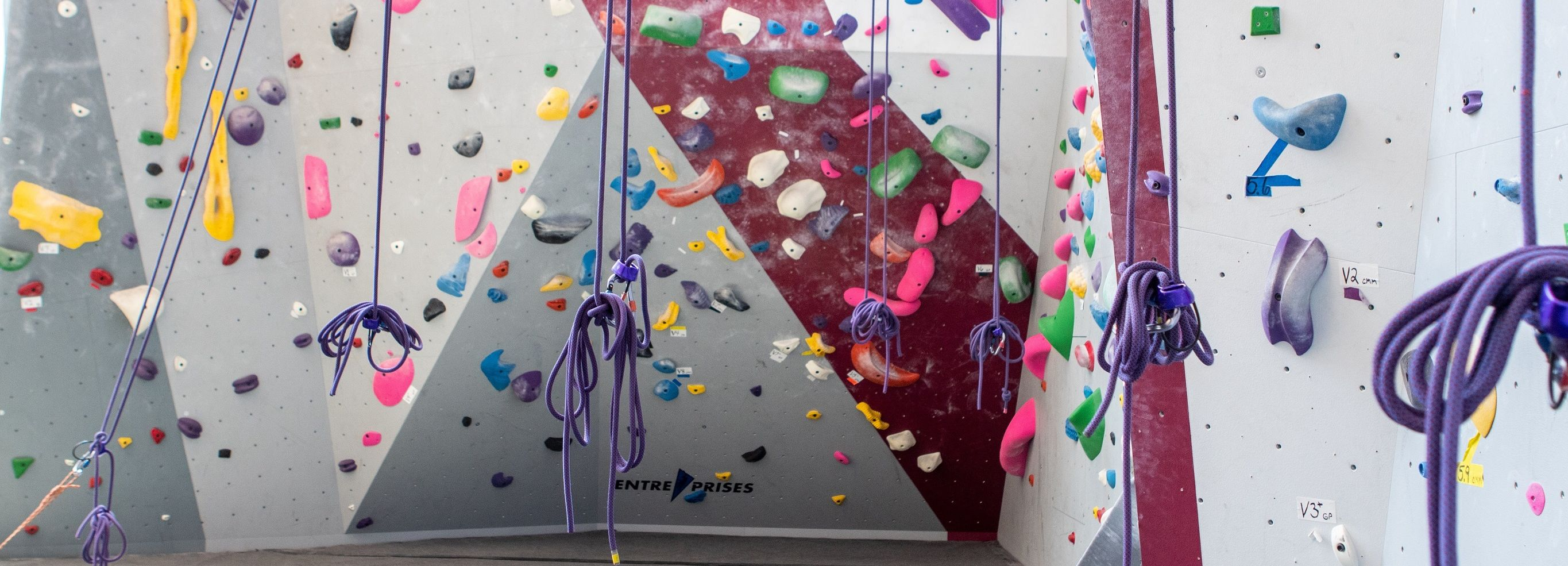 A photo of the Aramark Student Training and Recreation Complex, Climbing Wall.