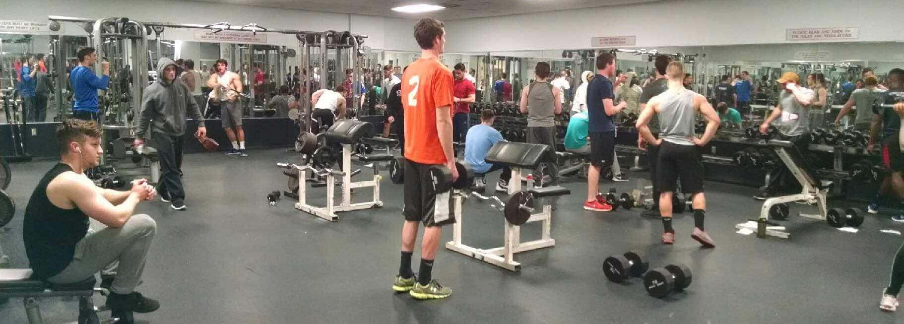 First floor fitness at the IBC Student Rec Center