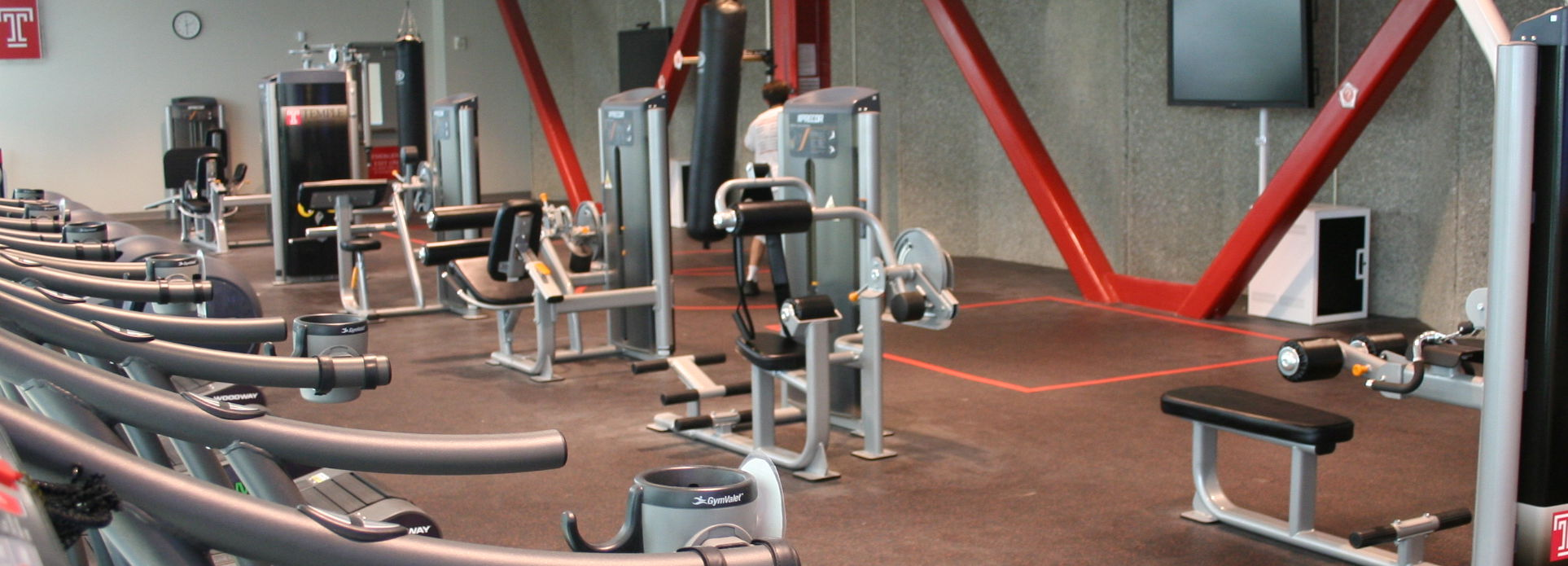 Interior of the fitness mezzanine