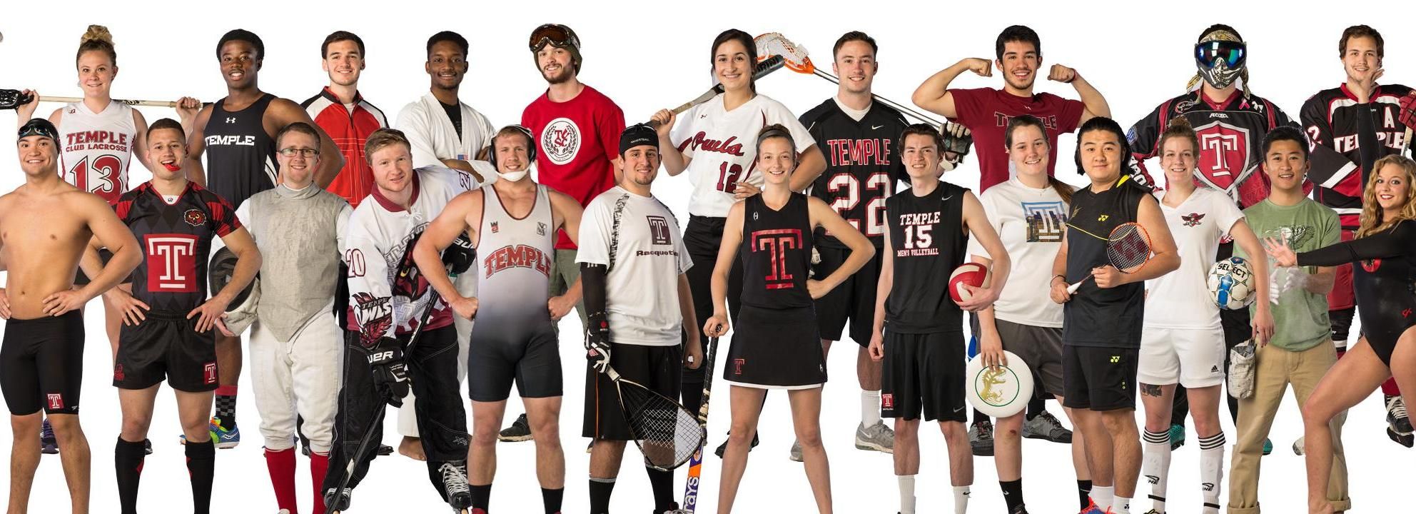 Many members of a variety of Campus Rec sport clubs.