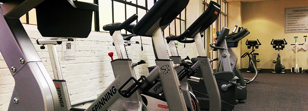 Exercise equipment at TASB fitness center