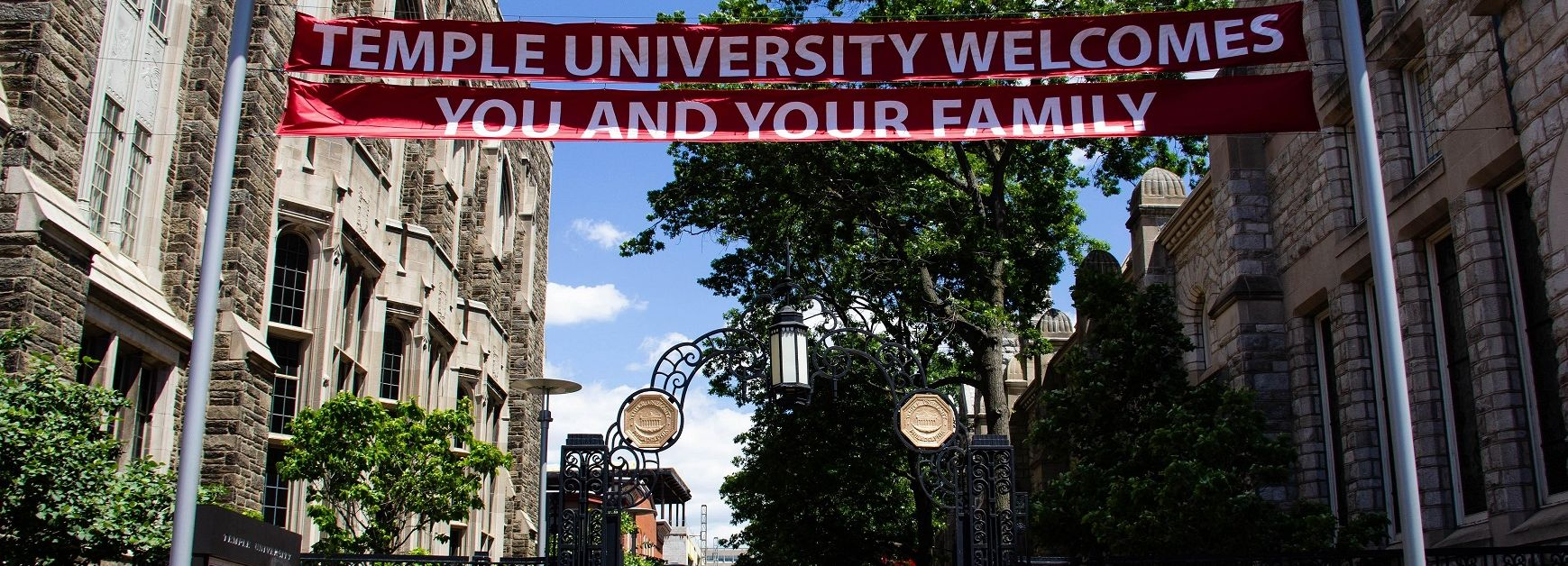 Temple welcome sign