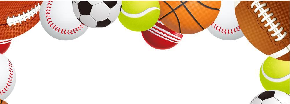 A variety of sports balls.