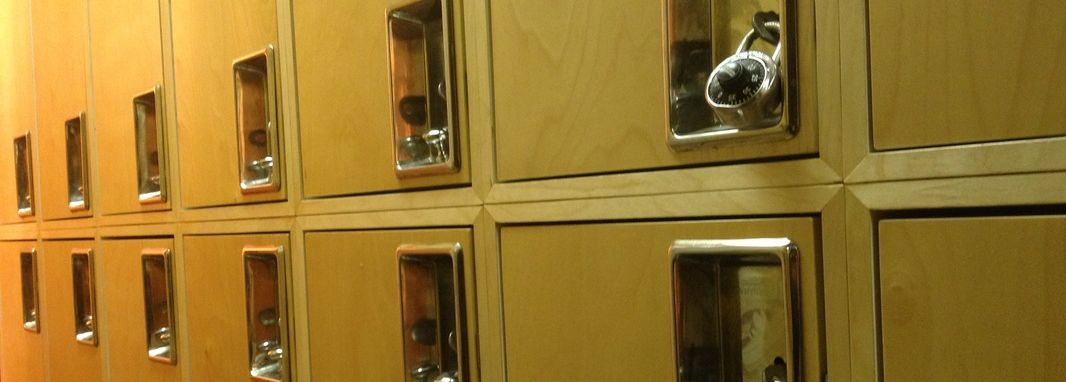 Lockers in the locker room