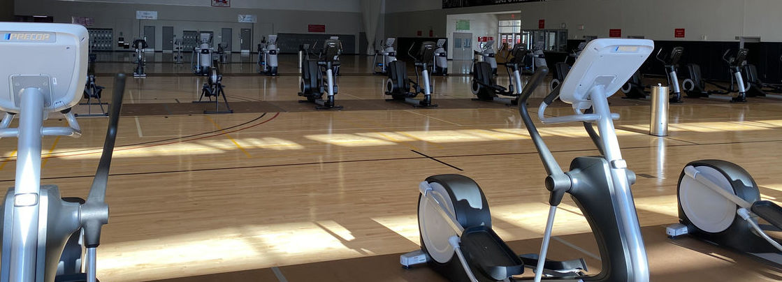 Pearson and McGonigle Hall 3rd floor recreation court cardio equipment