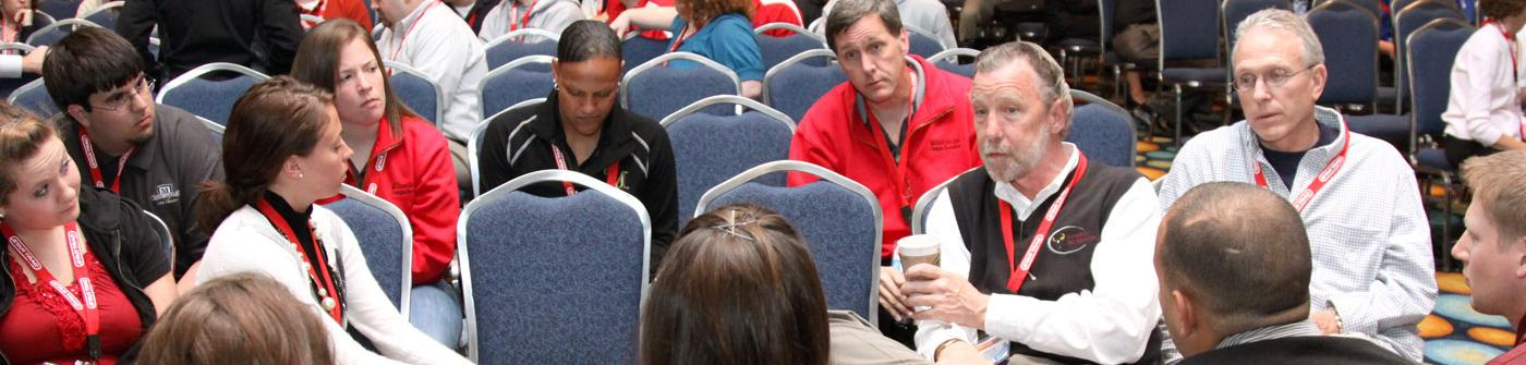 SY holding court at a NIRSA Conference