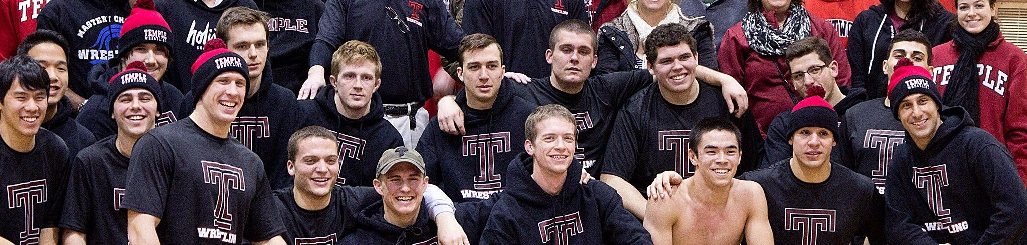 Temple University Wrestling Club team picture.