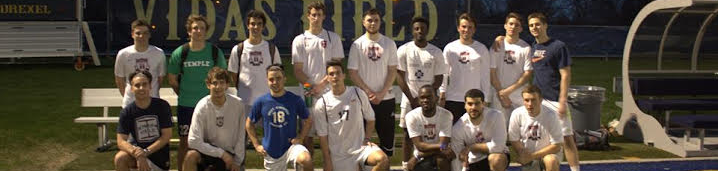 Temple University Men's Soccer Club team picture.
