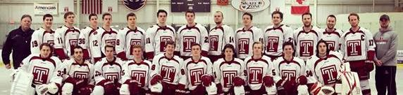 Temple University Ice Hockey Club team picture.