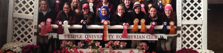 Equestrian Club showing off their ribbons
