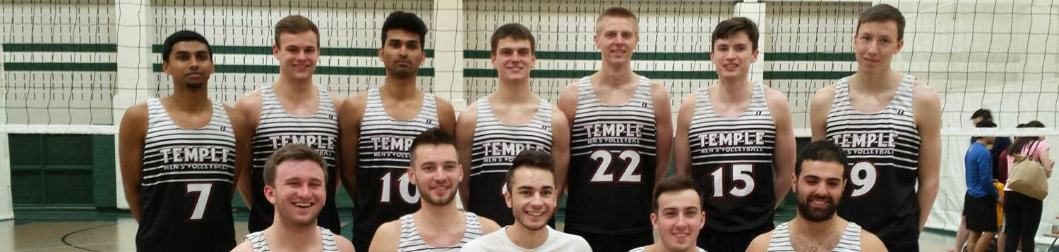 Temple University Men's Volleyball team picture.