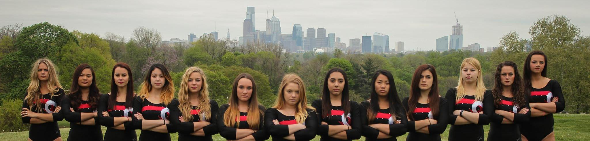 Women's Team and the Philly Skyline