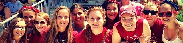 Temple University Women's Rugby team picture.