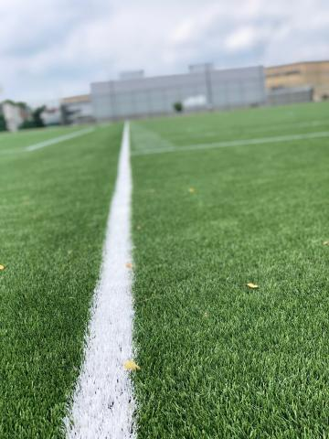 Close Up Shot of the Geasey Field Turf