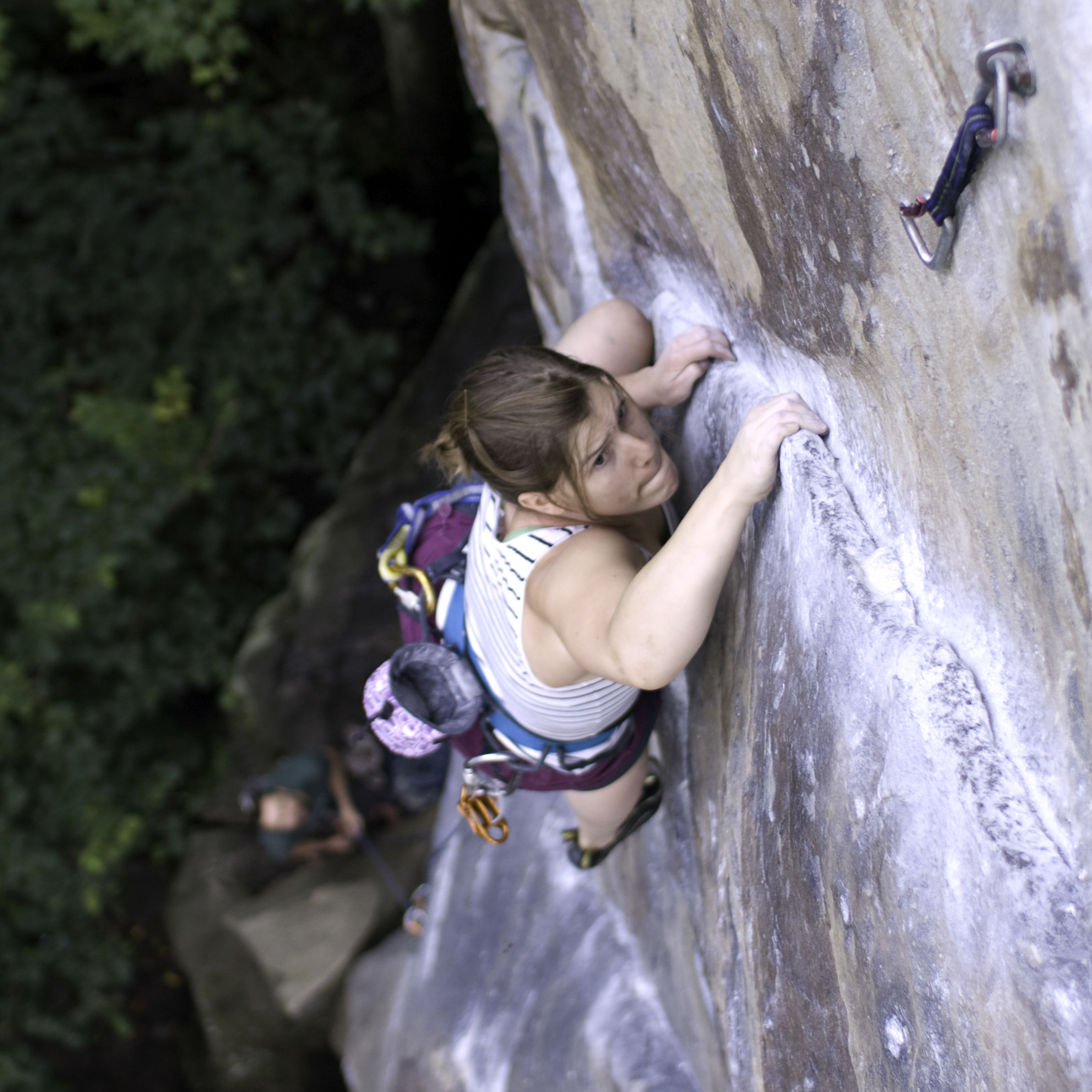 Student during an outdoor climbing experience