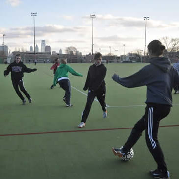 Temple University Women's Soccer Club at practice.