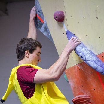 Climbing during a competition