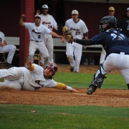 Temple player sliding Home