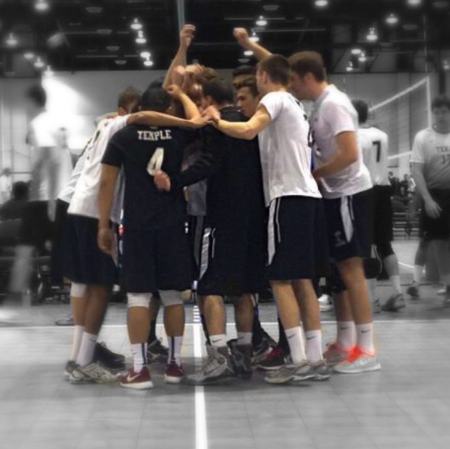 Men's Volleyball Huddle