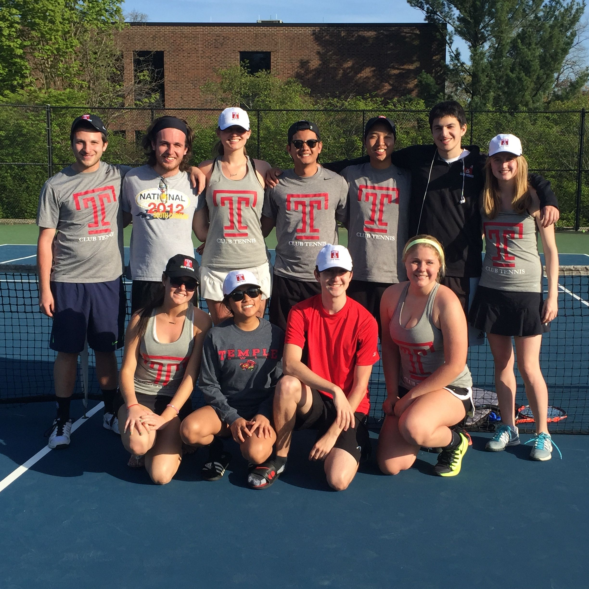 Temple University Tennis Club Team picture.